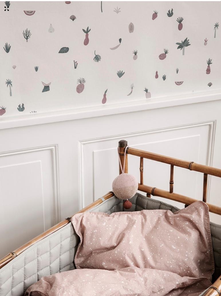 wallpaper, kids room decor, ferm living kids