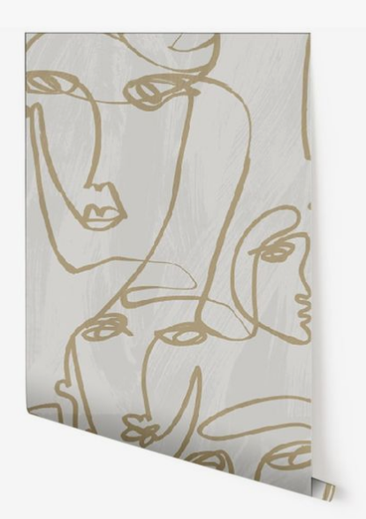 drop it modern wallpaper, femme