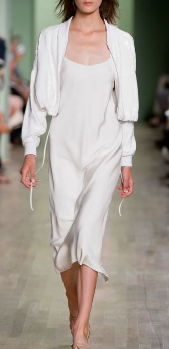 slip dress with bomber jacket, layering slip dress for fall