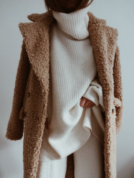 teddy bear coats, The Modhemian Fall 2018 Fashion Trend Round UP