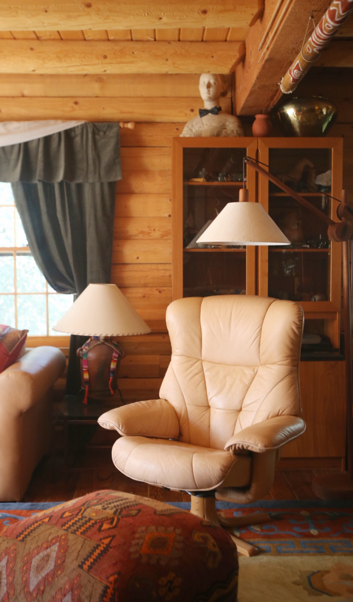@themodhemain house tour: john rixey moore, bohemian masculine cabin