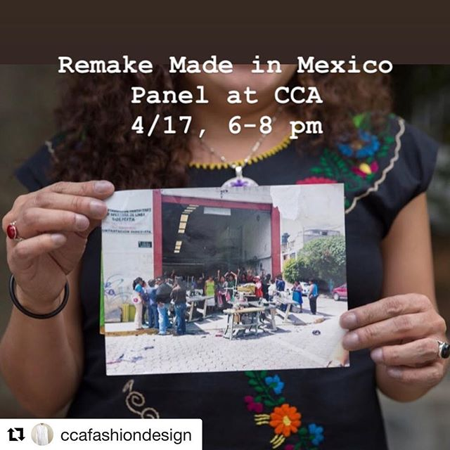 Can't wait to moderate the Q&A with my firmer students !  #Repost @ccafashiondesign with @get_repost ・・・ Join the discussion at CCA's Nave Alcove on Wednesday 4/17, 6-8! Intro by #ccafashiondesign Chair @lyndagrose - moderator @anniegullingsrud -  #remakeourworld founder and panelist Ayesha Barenblat and fashion students Sajida Silva and Yesenia Villasenor!