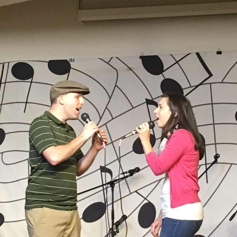 """""""Only Us"""" from  Dear Evan Hansen  performed by another married couple, Jeff & Britney, at our most recent Cabaret Fundraiser Night."""