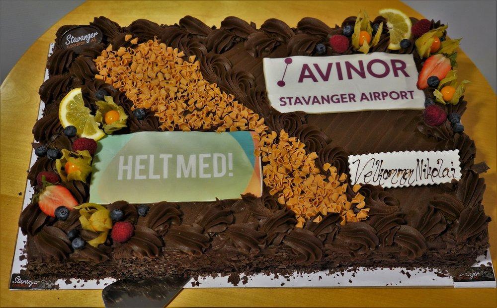 Bildet: En særdeles god sjokoladekake.
