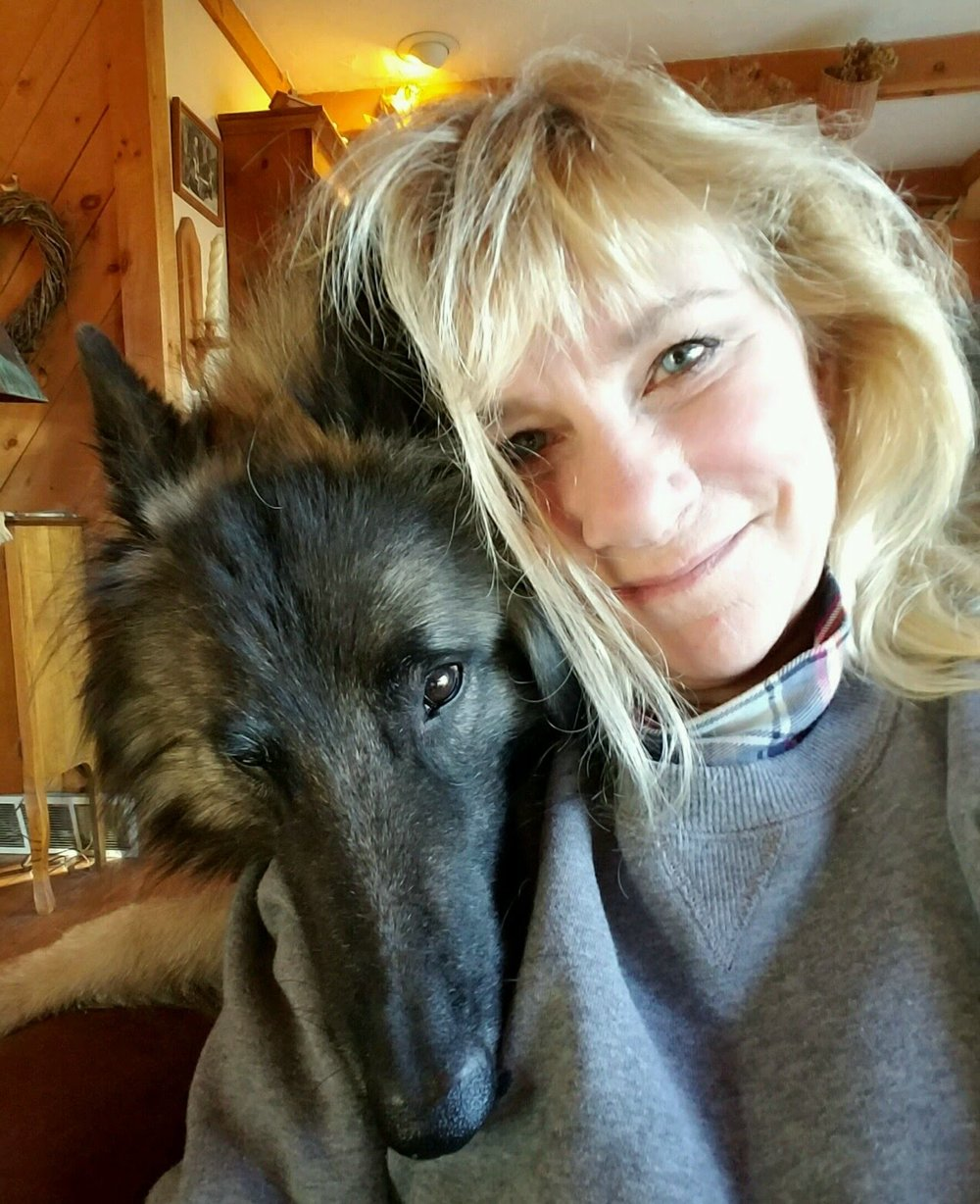 Bonnie Marris and her dog, Shane