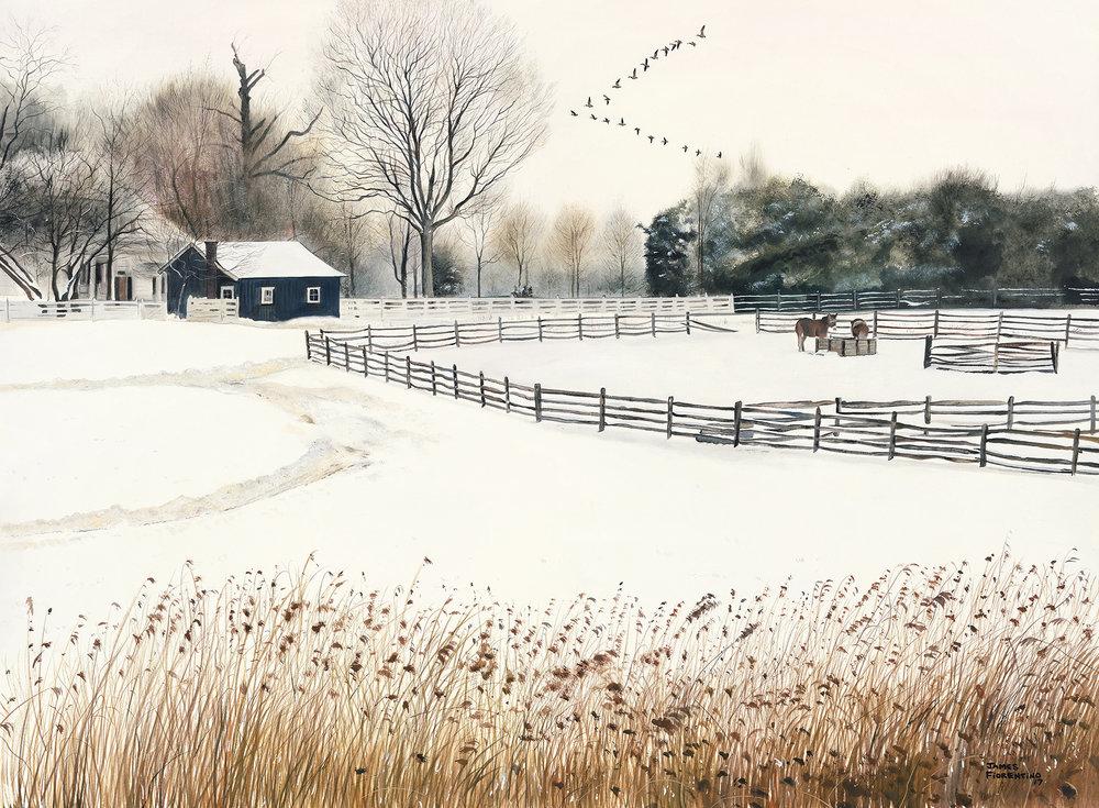 Fiorentino, James, Long Winter, watercolor, 22 x 30, 6000.jpg