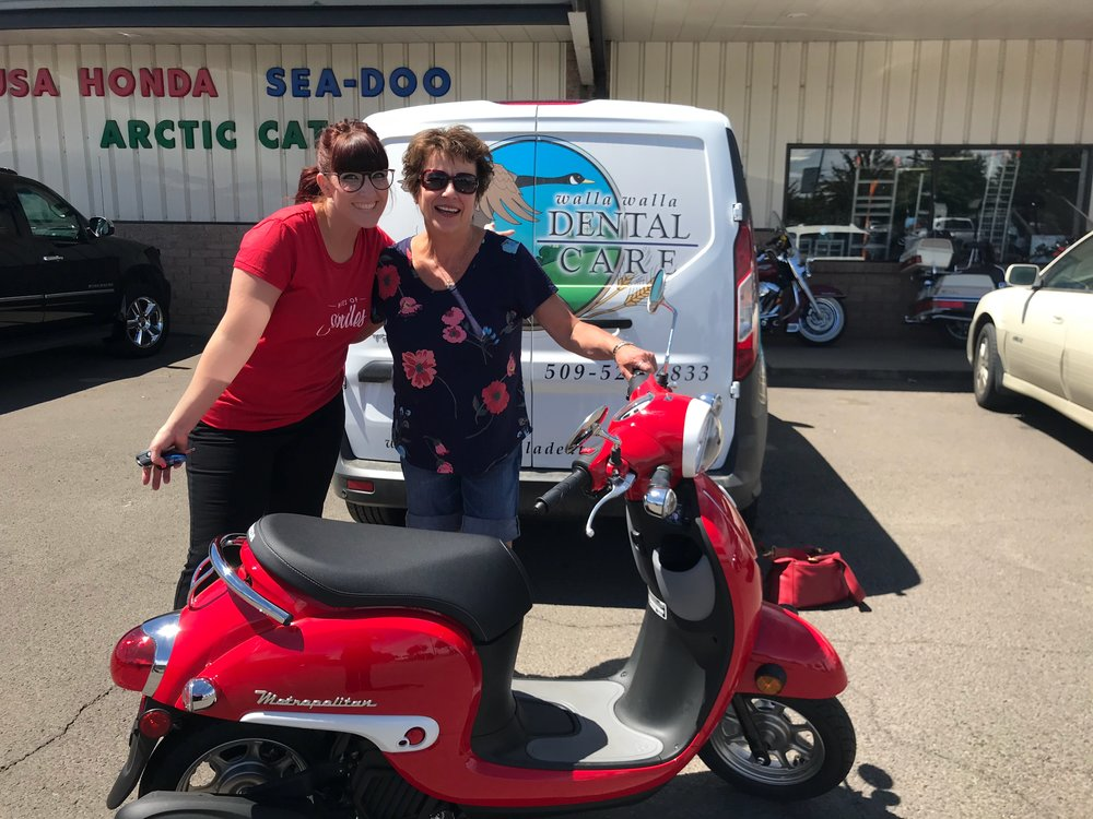 """""""Miles of Smiles""""    During our miles of smiles giveaway, we gave our patients the chance to win this vintage style scooter, just by referring their friends to get amazing treatment. the new patients got an entry too! to make our patients extra happy, we also had an awesome deal on    orthodontics   !"""