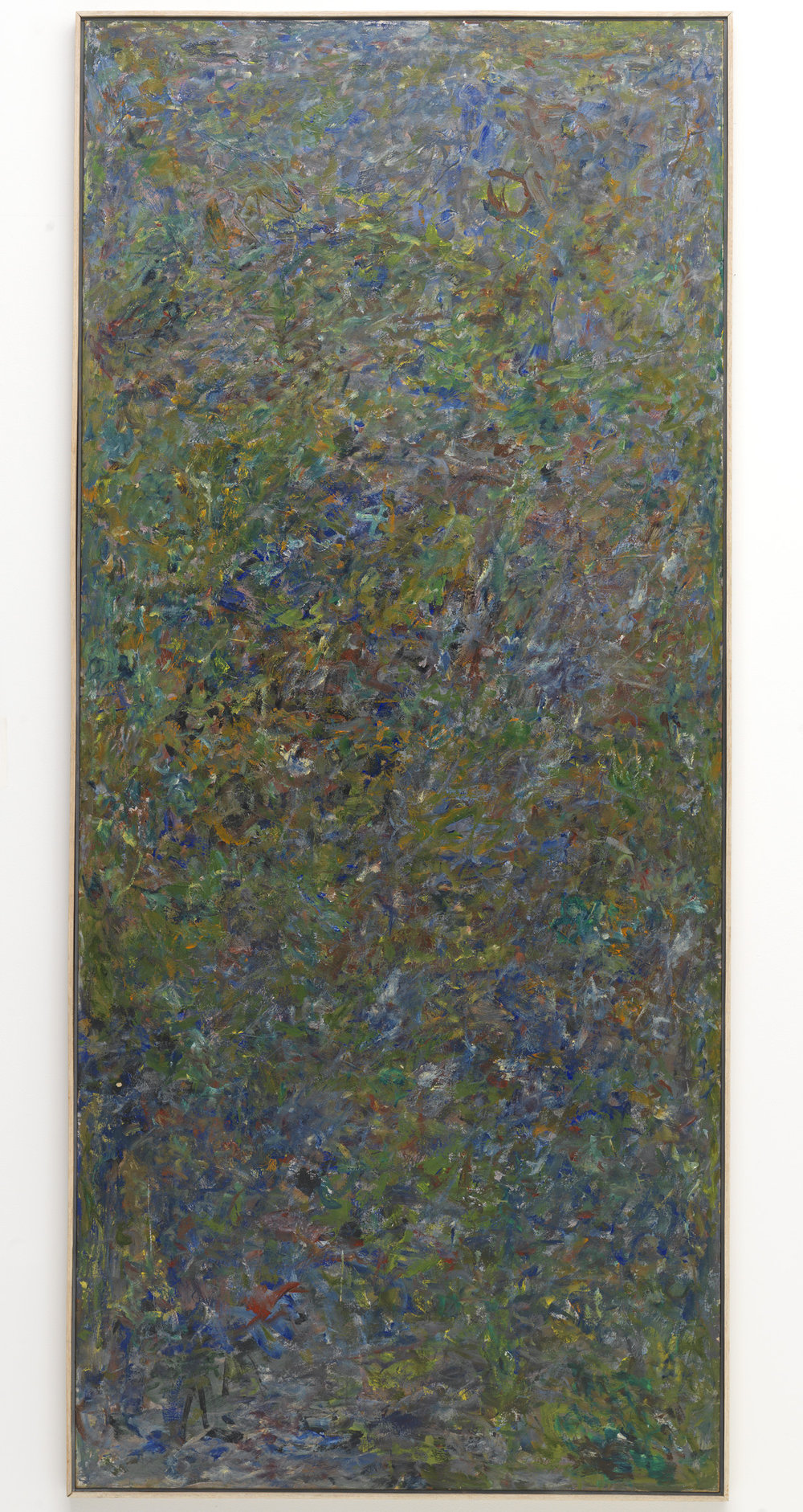 Milton Resnick  Letter , 1960 Oil on canvas 98 x 43 inches