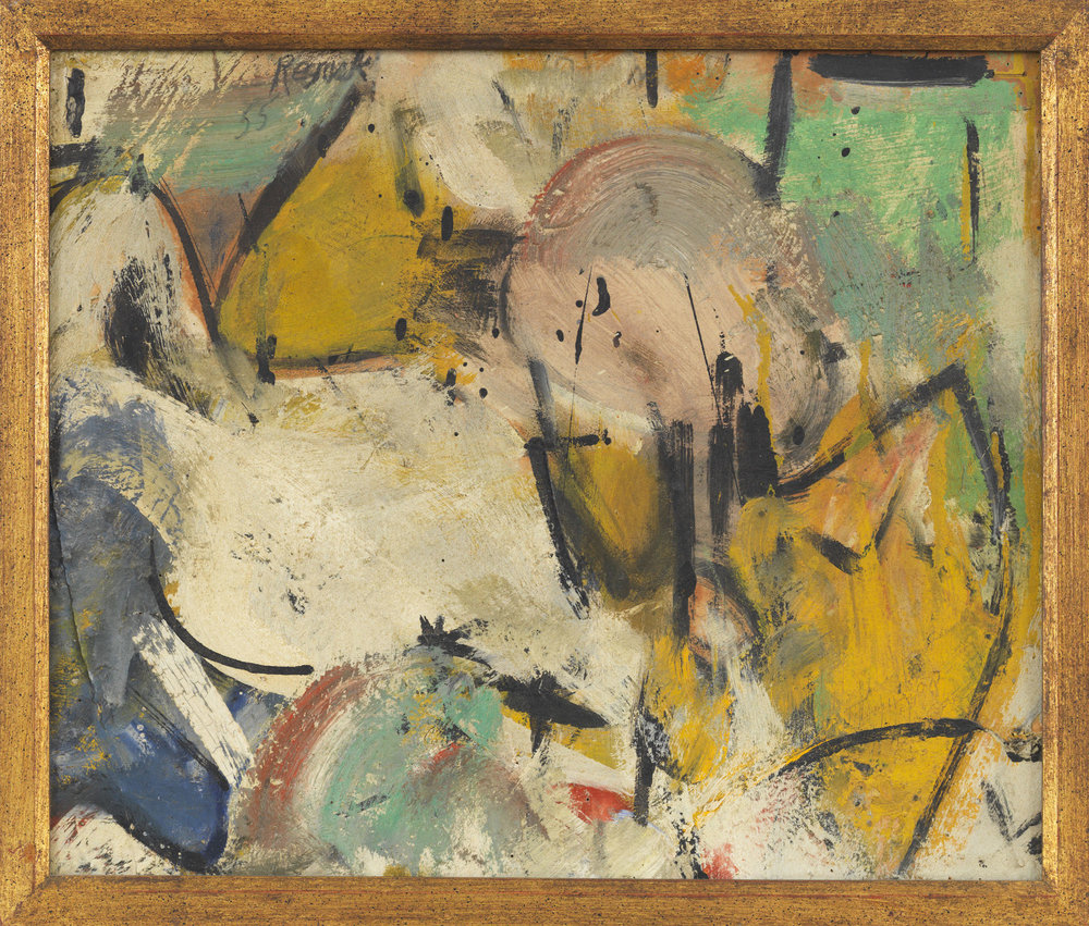 Milton Resnick  Untitled , 1955 Oil on canvas 14 x 17 inches
