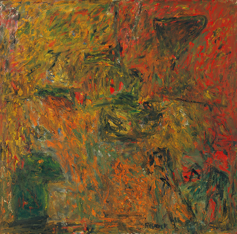 Milton Resnick  Y + R , 1958 Oil on canvas 67 x 68 inches