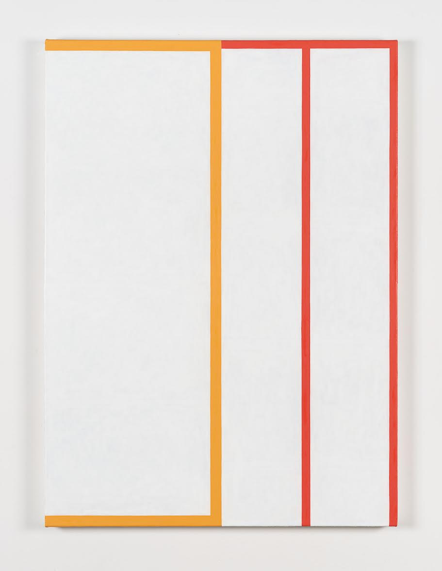 Andrew Spence  Untitled Orange/Red , 2018 Oil on canvas 44 x 32 inches