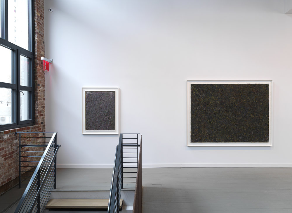Left: Untitled, 1982 Oil on board 40 x 30 inches  Right: Untitled, 1983 Oil on canvas 60 x 80 inches