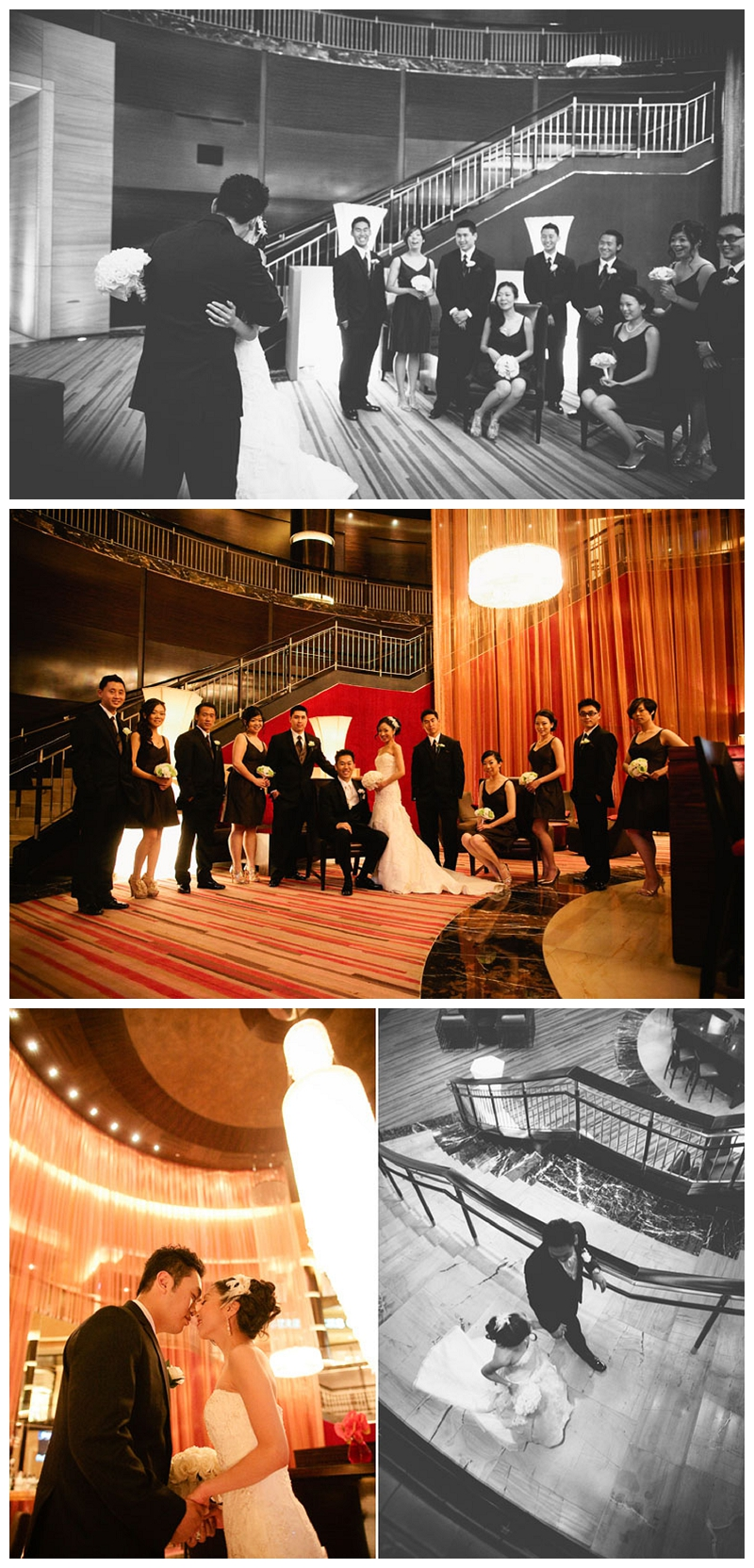 first-look-with-bridal-party-red-rock-resort-casino