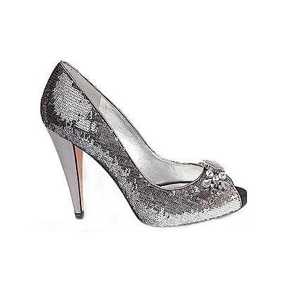 NINA-LORD-AND-TAYLOR silver glitter pumps