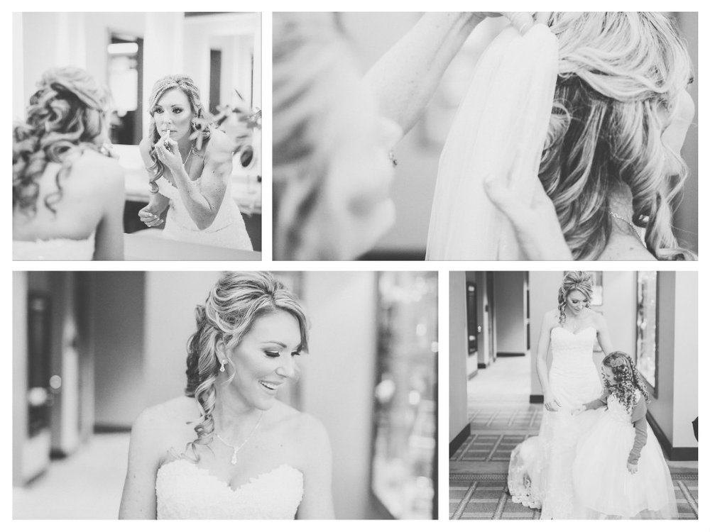 bride, getting ready, lipstick, hair and makeup, black and white photography, las vegas wedding planner, vegas wedding planner, las vegas weddings, vegas weddings, green orchid events, weddings, wedding day, country club
