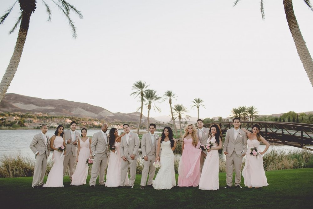 bridal-party-lake-las-vegas