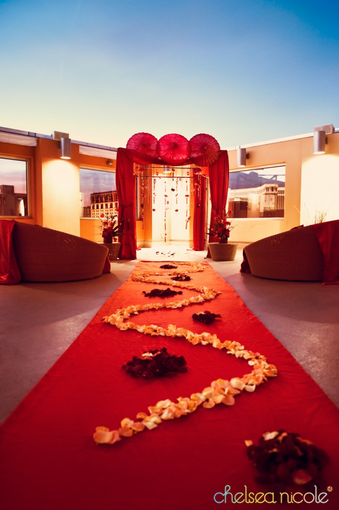 Chinese wedding red altar