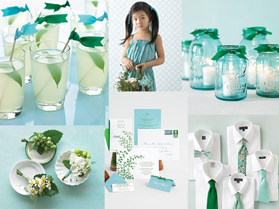 Emerald and Aqua