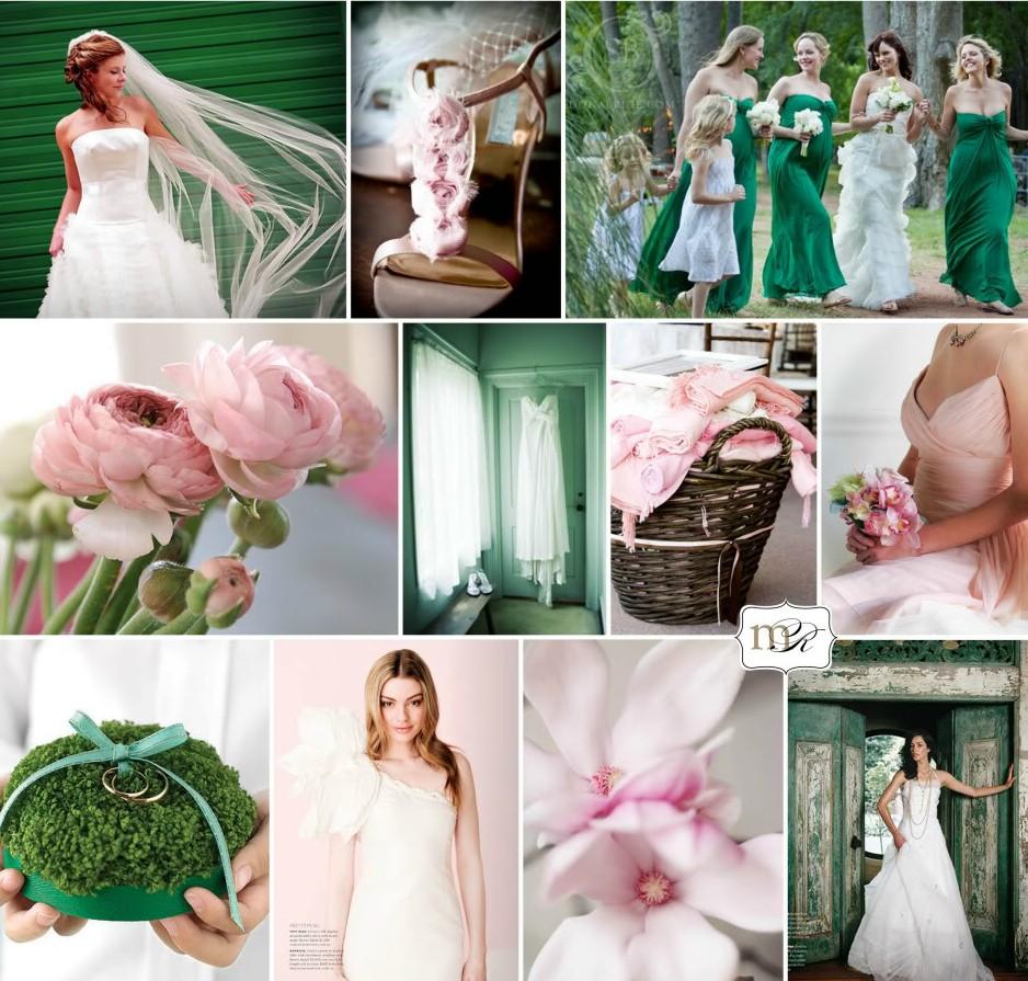 Emerald and Pink Wedding