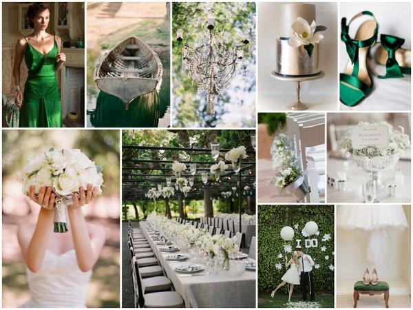 Emerald and Silver wedding storyboard
