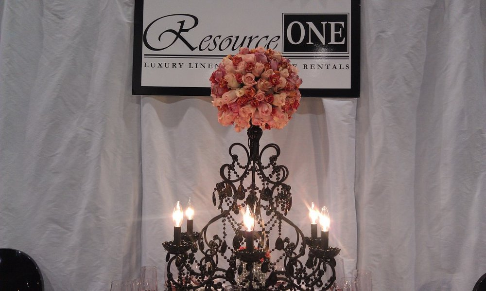 rose and black chandelier from resource one