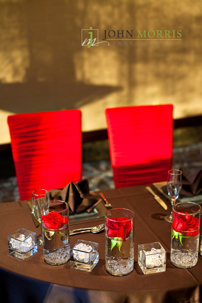red chameleon chairs - sweetheart table