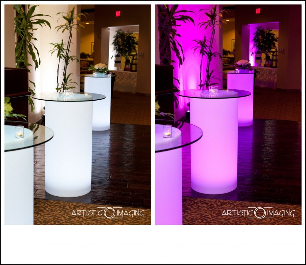 before after photos light up high boys high cocktail tables