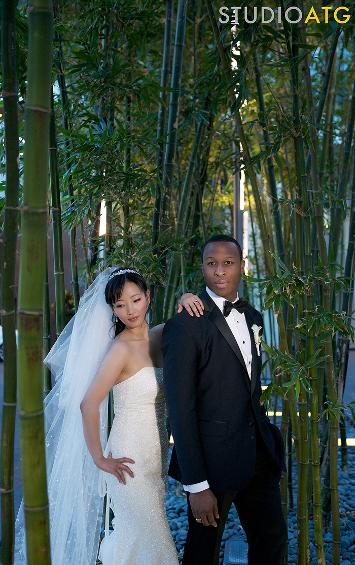 mandarin oriental wedding, las vegas wedding planner, wedding planner, green orchid events, hair and makeup, bride and groom, bride, groom, bamboo