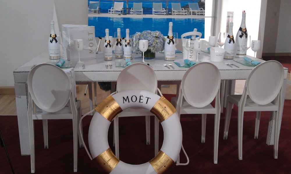 Moët Ice beach poolside outdoor wedding