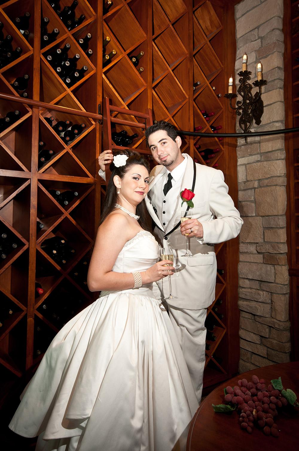 bride-and-groom-wine-room