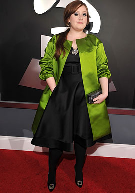Singer Adele arrives to the 51st Annual GRAMMY Awards held at th
