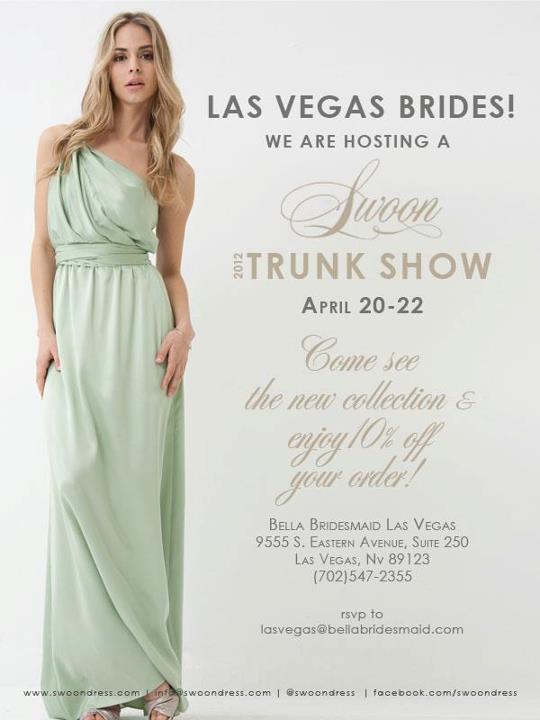 bella bridesmaid trunk show
