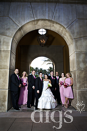 bridal party at siena golf club