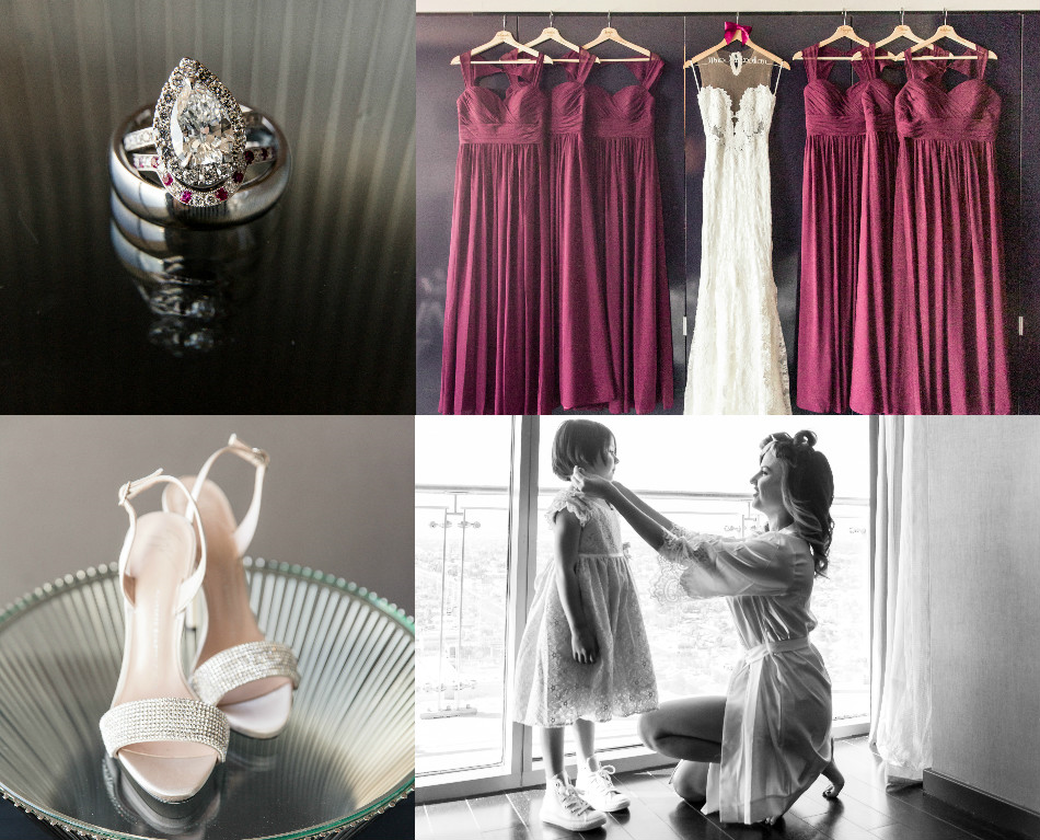 wedding rings, bridesmaid dresses, burgundy dresses, guiseppe zanotti shoes, wedding shoes