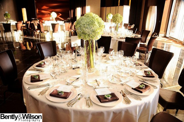 dinner reception table
