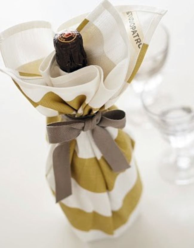 dressed up bottle of wine