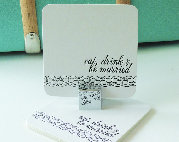 eat, drink, and be married coasters