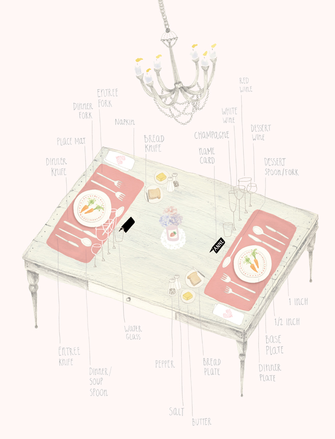 how to set a table illustration