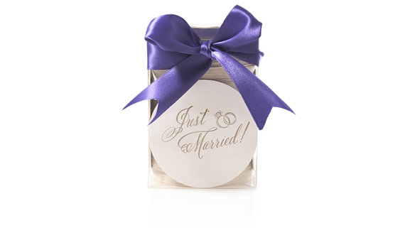 just married coasters