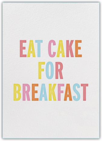 kate spade for paperless post eat cake for breakfast
