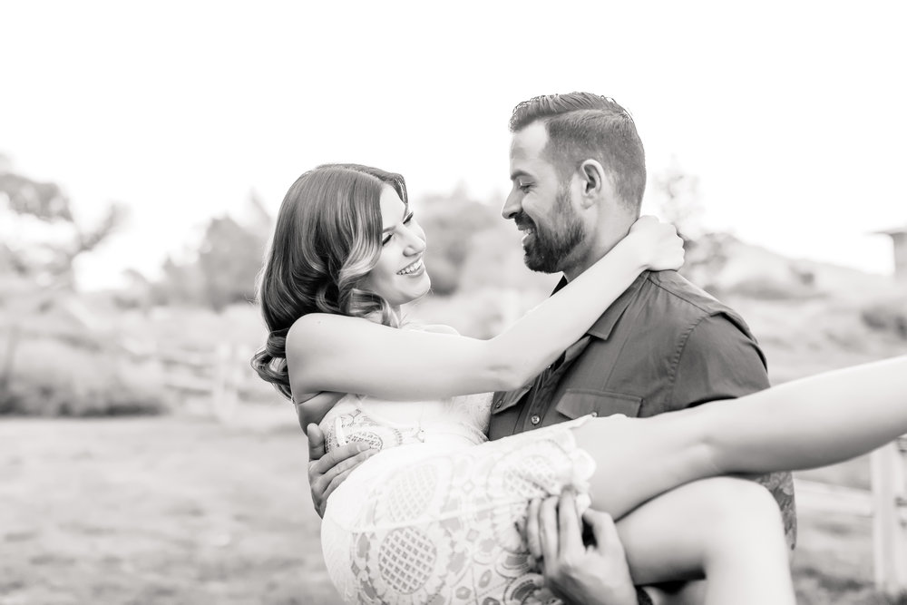 bride and groom, black and white photography, las vegas wedding planner, engagement session, green orchid events