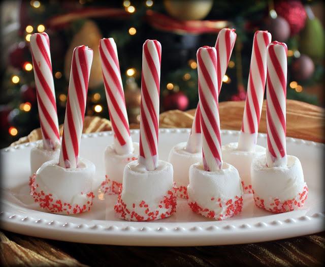 marshmallow candy cane stir stick