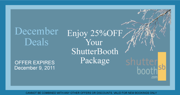 shutterbooth lv holiday special promotion
