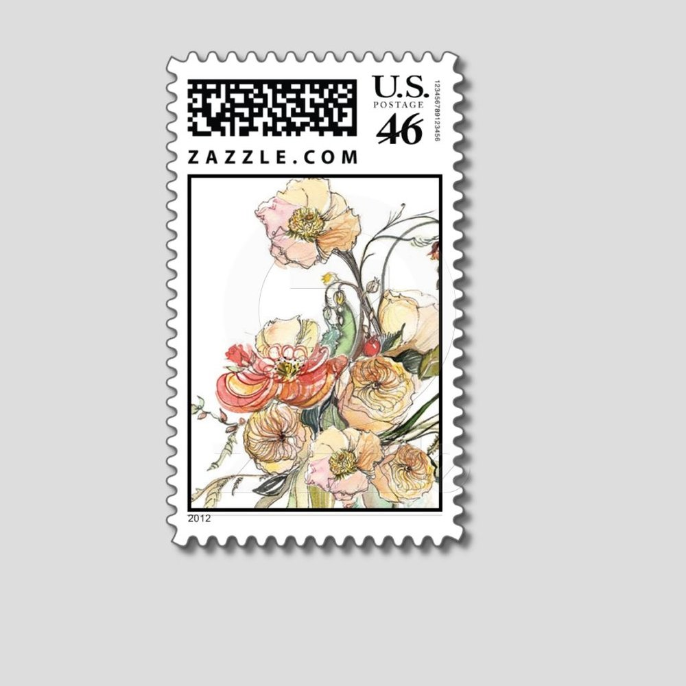 watercolor flower stamp by momental designs