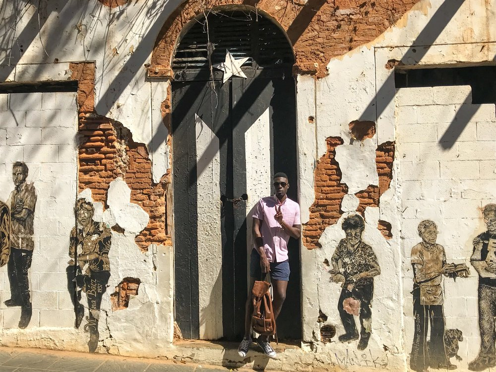"""""""La Puerta de la Bandera"""". Located on Calle San Jose, Old San Juan."""