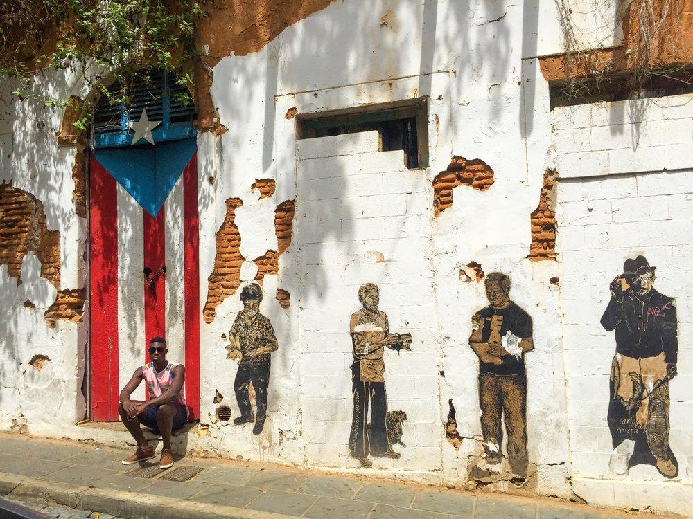 """5 September 2015. In front of the original rendition of """"La Puerta de la Bandera. """"Change is the only constant"""""""