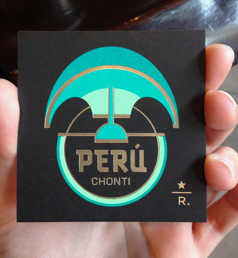 COFFEE CARD  Peru Chonti