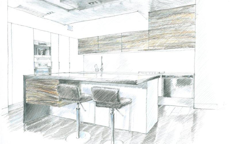 Sketch of kitchen 3