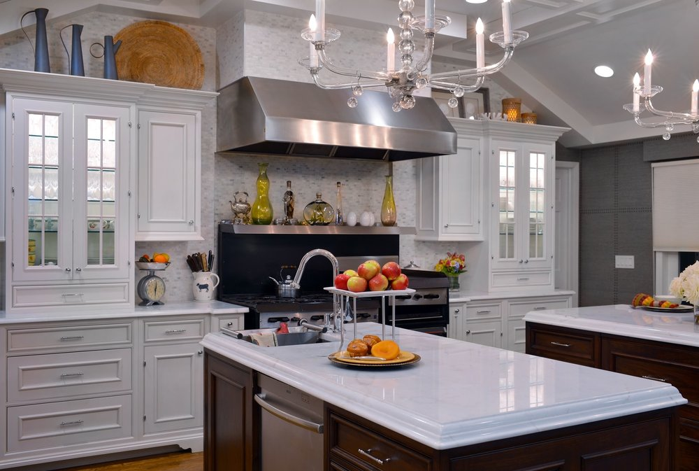 Traditional style kitchen with warm wood accents