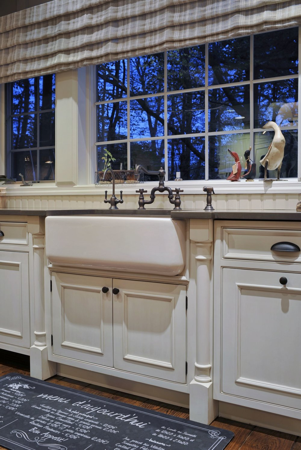 Traditional style kitchen with vintage faucet